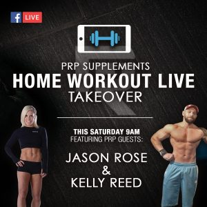 PRP Supplements Home Workout Take Over - Jason Rose and Kelly Reed Home Tabatta Workout