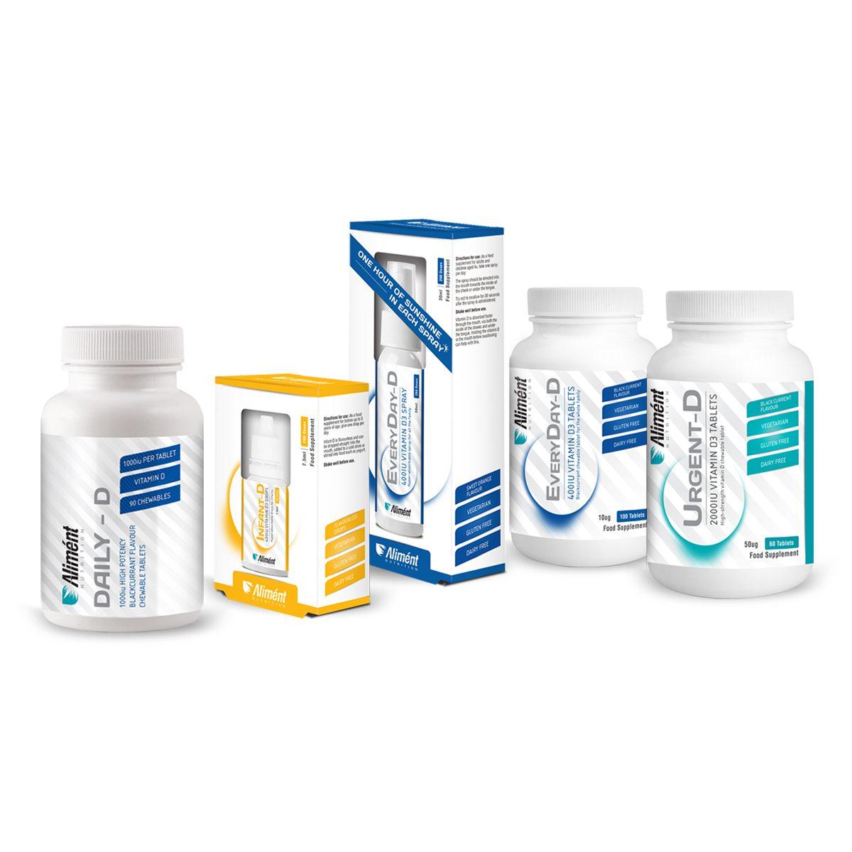 PRP Vitamin D range